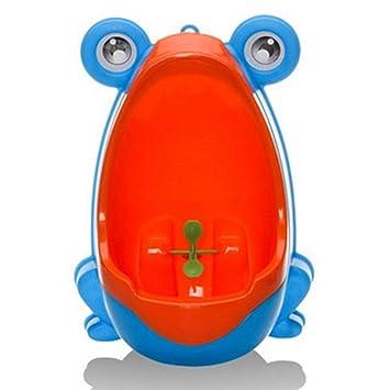 QIANGUANG Froschkinder T/öpfchen Toilette Ausbildung Kind Urinal zum Junge Pinkeln Trainer Bad Blau