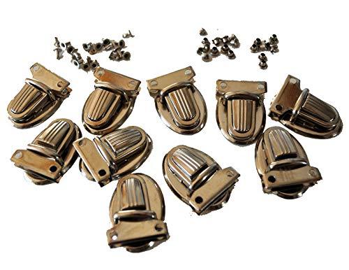 35x25x11mm PandaHall Elite 10 Sets Iron Purse Push Lock Sets Tuck Lock Clasp for DIY Craft Making Platinum