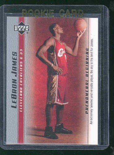 2003 Upper Deck Phenomenal Beginning Talented #1 Lebron James Rookie Card - Mint Condition Ships in a Brand New Holder