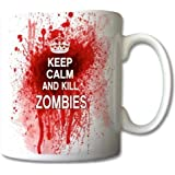 Keep Calm And Kill Zombies taza regalo Retro