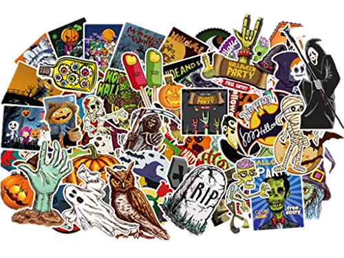 Halloween Stickers 100Pcs/Pack for Car, Laptop, Skateboard, Luggage,Motorcycle, Bicycle (Halloween)]()