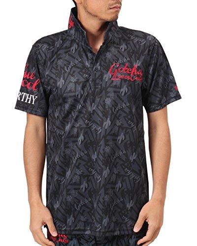 [ガッチャ ゴルフ] GOTCHA GOLF ポロシャツ メキシカン柄ドライポロ 182GG1217 ブラック Mサイズ