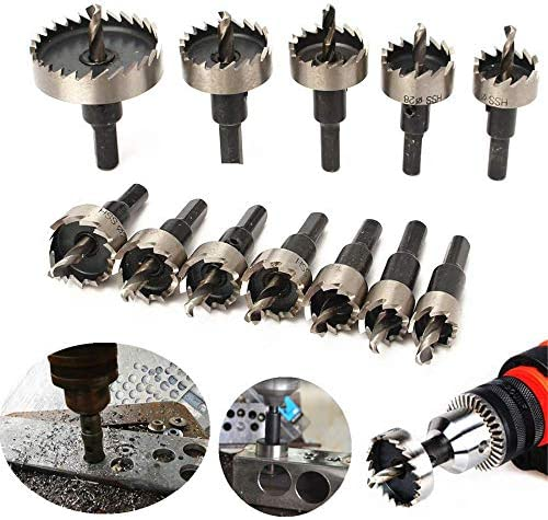 Hole Cutters Drill Bits, Hole Cutting Drill Bit 50MM HSS Carbide Tip Hole Saw Tooth Cutter Drill Bit for Steel, Metal, Aluminum,Boards