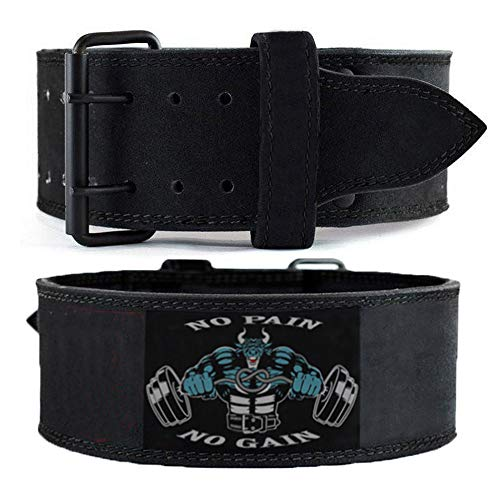 UnitedUshop 7MM Weight Lifting Belt for Squats, Crossfit, Lunges, Deadlift, Thrusters, Powerlifting Belt, Gym Belt, Olympic Belt, Weight Belt - Men and Women