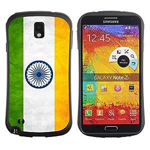 Paccase / Suave TPU GEL Caso Carcasa de Protección Funda para - National Flag Nation Country India - Samsung Note 3 N9000 N9002 N9005