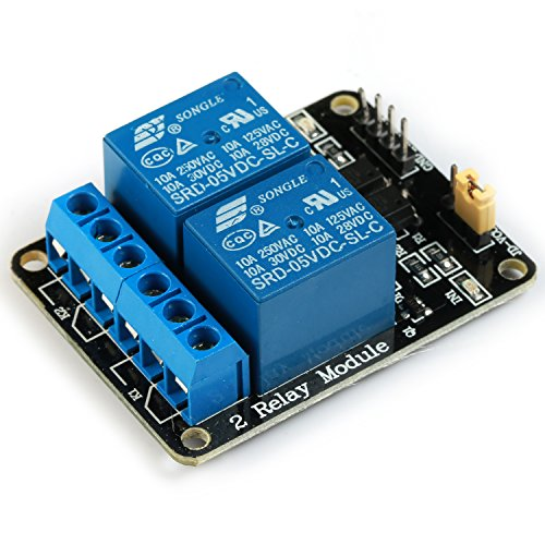 GEREE 5V 2 Channel Relay Module With optocoupler Compatible With Arduino PIC AVR DSP ARM
