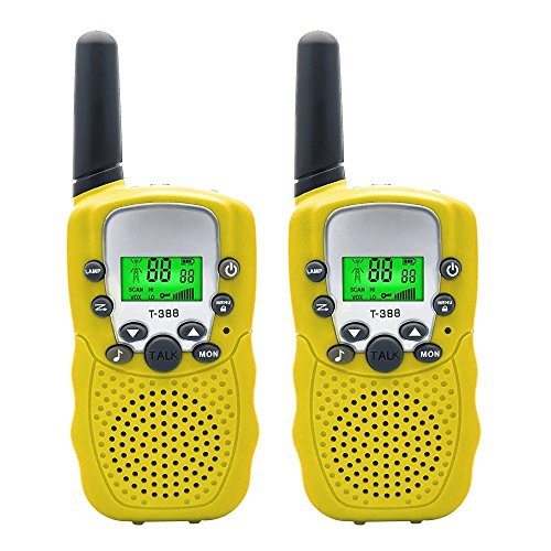 Walkie Talkies Speaker for Kids Up to 3 KM Long Range, 22 Channel 2 Way UHF Radios Walkie talkie Toy Intercom with Flashlight,Handfree Walky Talky Set for Toddlers Gifts Outdoor Adventures Camping by TOP-MAX