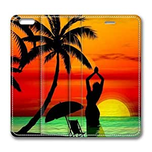 3D Abstract Sunset Beach From Another World Standing pc hard Smart Cover Case Exclusive for iPhone 5c Screen