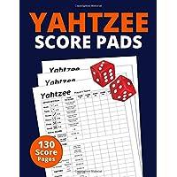 """Yahtzee Score Pads: 130 Pages 8.5"""" x 11"""" Yahtzee Score Cards"""