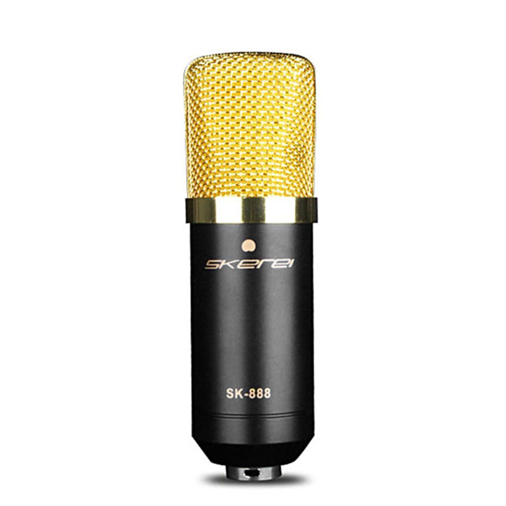 Walmeck Condenser Microphone Studio Sound Recording Broadcasting with Shock Mount Audio Cable Sponge KTV Party Microphone