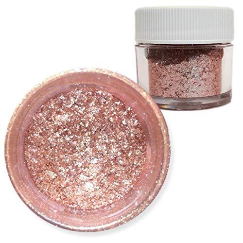 Rose Gold Tinker Dust Edible Glitter 5g Jar | Bakell Food Grade Dessert, Foods, Drink Garnish Pearlized Shimmer Sparkle Sprinkle