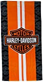Harley-Davidson Racing Stripes Beach Towel 30 in. X 60 in.