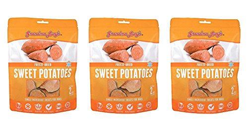 Grandma Lucy's Freeze Dried Sweet Potato Singles Treats 3 pack For Sale