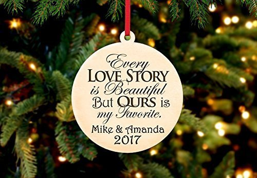 Personalized Christmas Ornament- Every Love Story is - History Sunglasses Timeline