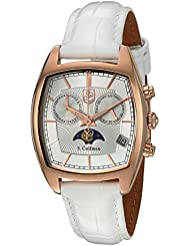 S. Coifman Womens Lady Swiss Quartz Stainless Steel and Leather Watch, Color:Silver-Toned (Model: SC0330)