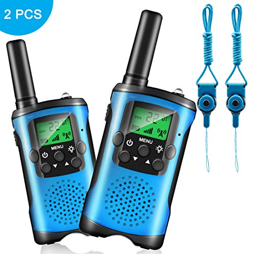 Walkie Talkies for Kids,22 Channels 2 Way 3 Mile Radio with Backlit LCD Flashlight Long Range Gift for Boy & Girls Age 3-18 Year Old Kids for Outside, Camping, Hiking Adventure Game