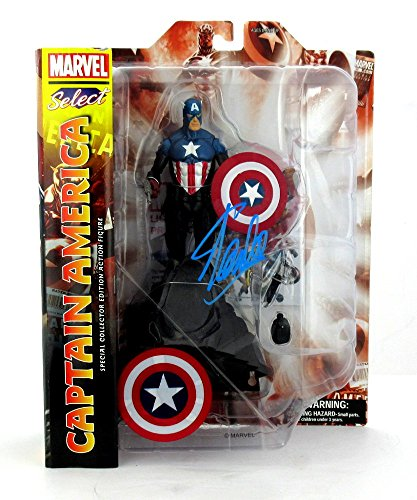 Stan Lee Autographed/Signed Marvel Select Avengers Captain America Action Figure