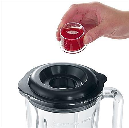 SEVERIN SM 3710 Batidora de vaso con recipiente de cristal, 1.000 W aproximadamente, 1,5 L, color acero inoxidable y negro