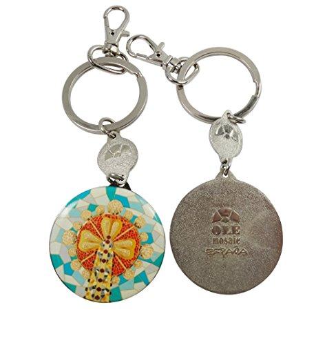 Amazon.com: Barcelona Ole mosaico botón estilo llavero clave ...