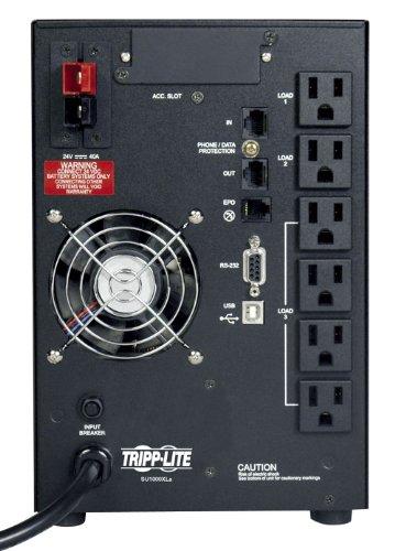 Tripp Lite SU1000XLA 1000VA 800W UPS Smart Online Tower 100V - 120V USB DB9 SNMP RT, 6 Outlets by Tripp Lite (Image #1)