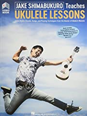 Jake Shimabukuro Teaches Ukulele Lessons (Video/Book). Learn notes, chords, songs, and playing techniques from the master of modern ukulele! In this unique book with online audio and video, Jake Shimabukuro will get you started on playing the...