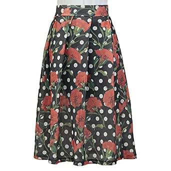 GH Design Multi Color Cotton Pleated Skirt For Women