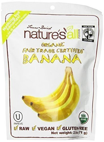 Nature's All Foods Bar Organic Raw Fruit Bananna 2.5 oz. ...