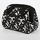 Image of Fit & Fresh Charlotte Insulated Lunch Bag for Women / Girls with Ice Pack, Ideal for Work / School, Zips Closed, Black & White