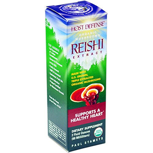 Host Defense - Reishi Extract, Supports a Healthy Heart, 60 Servings (2 oz) (Defense Extract)