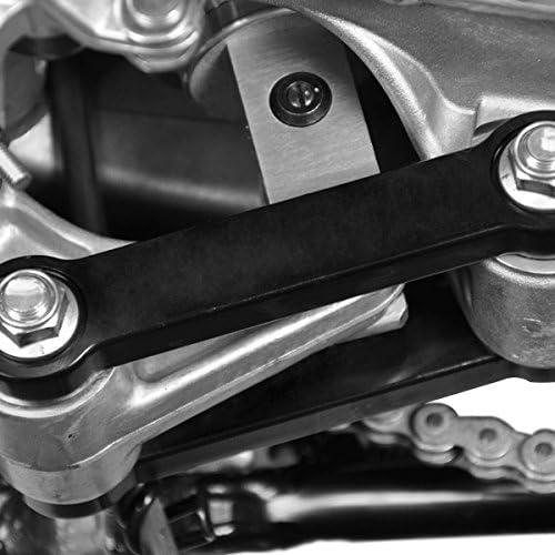 2000-2019 Suzuki 2 Rear Lowering Link Kit DRZ-400 KLX400 Motorcycle Drop Links T6 Billet BlackPath Silver