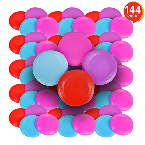 ArtCreativity Mini Flying Disc Set (Mega Pack of 144) | Assorted Colors | Mini Sports Frisbee Disc | Fun Summer Outdoor Activity Game Boys, Girls Adults | Great Gift Idea/Birthday Party Favor by ArtCreativity