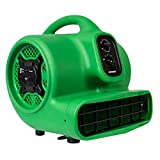 XPOWER P-430AT 1/3 HP Air Mover Carpet Dryer Blower Fan with Timer & Dual Power Outlets