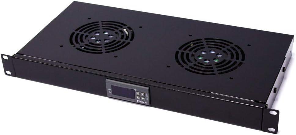 RackMatic - Kit de ventilación con termostato para Armario Rack 19