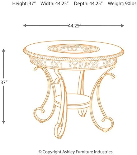 home, kitchen, furniture, kitchen, dining room furniture,  tables 9 discount Signature Design By Ashley - Glambrey Dining Room Table deals