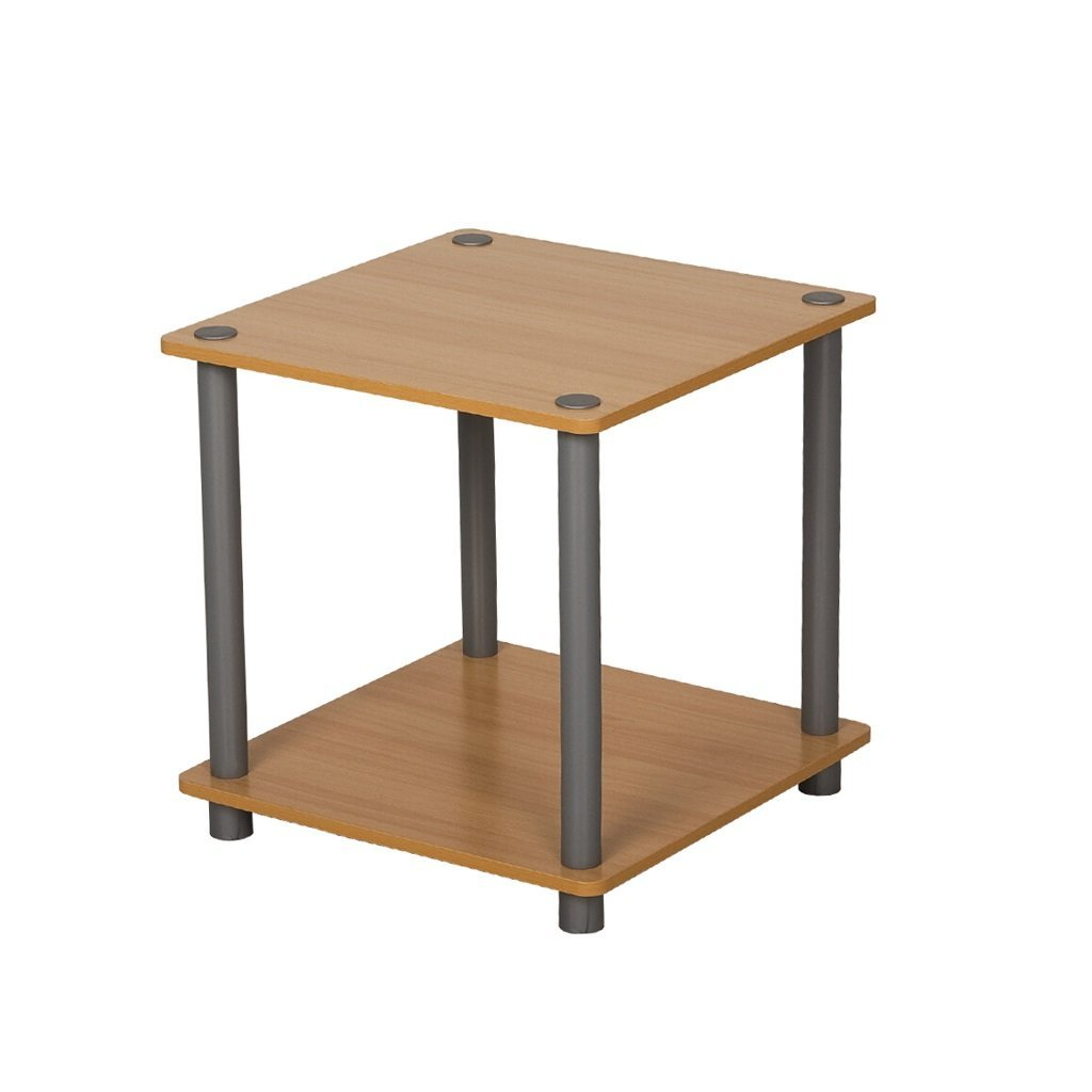 YCT 棚、フローティングラック家政学シンプルモダンな木製のリビングルーム棚広場シンプルな棚ソファサイド棚ベッドルームベッドサイドテーブル (Color : Wood Color) B07R9LPN36 Wood Color