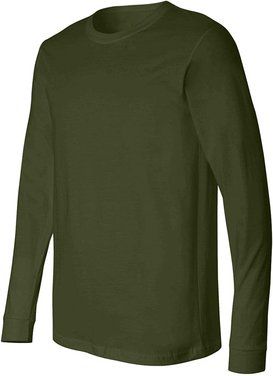 Elastic Cuff US Military Style Long Sleeve Mens OD T-Shirt Made in The USA