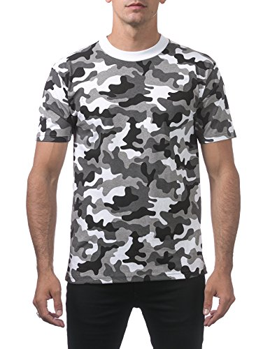 - Pro Club Men's Comfort Cotton Short Sleeve T-Shirt, City Camo, Large
