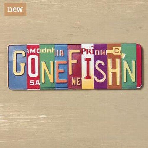Big Sky Carvers Gone Fish'n Vanity Plate Magnet