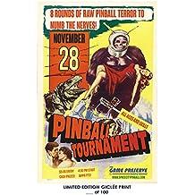 RARE POSTER game preserve PINBALL TOURNAMENT video game giclee #'d/100!! 12x18