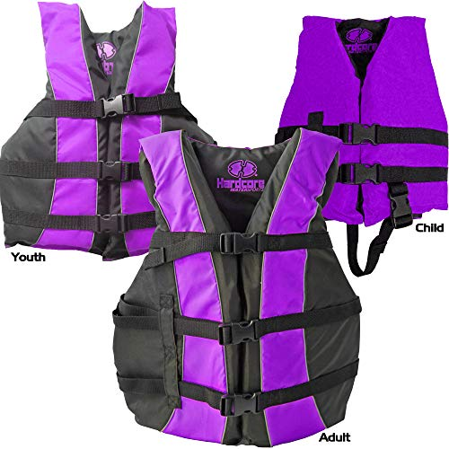 Hardcore Water Sports High Visibility USCG Approved Life Jackets for The Whole Family -1 Vest...