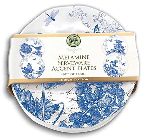 (Michel Design Works Indigo Cotton Melamine Accent Plate Set (SWPS284) )