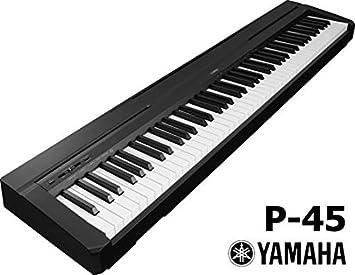Yamaha P45 Piano digital 88 teclas color negro: Amazon.es: Instrumentos musicales