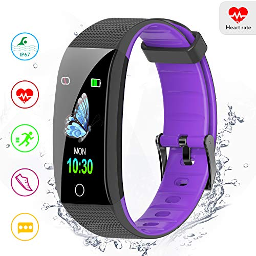 Amerzam Fitness Tracker Activity Tracker Smart Bracelet with Heart Rate Monitor Sleep Monitor Step Counter Waterproof…
