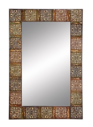 Aspire Embossed Metal Frame Wall Mirror - Mirror wall art
