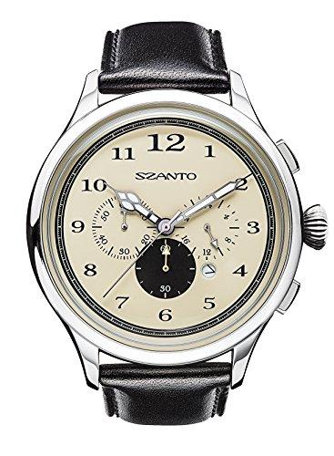 Szanto Unisex SZ 2402 Szanto 2400 Series Analog Display Japanese Quartz Black Watch by Szanto (Image #1)