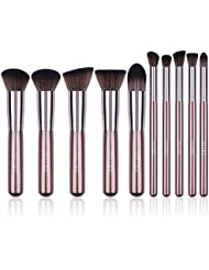 Docolor Makeup Brushes 10 Pcs Makeup Brush Set Premium Synthetic Kabuki Foundation Blending Brush Face Powder Blush Concealers Eye Shadows Make Up Brushes Kit