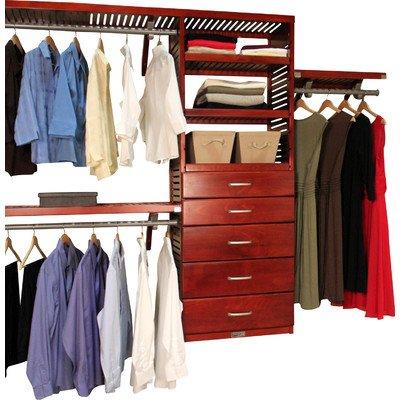 "120"" Wide Closet System Finish: Red Mahogany"