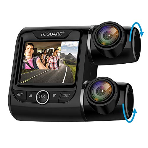 toguard uber dual dash cam fhd 1080p 1080p front and rear view car camera 2 lcd 340 outside. Black Bedroom Furniture Sets. Home Design Ideas