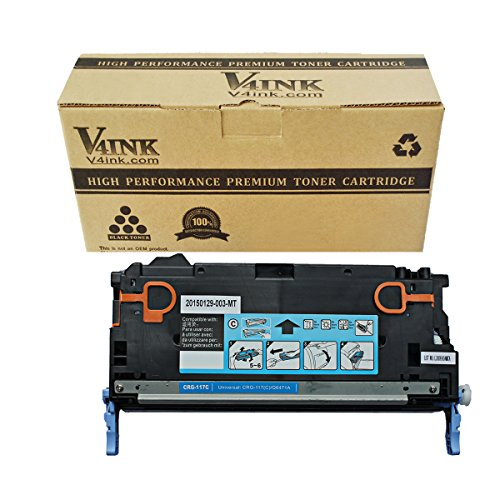 V4INK174; New Compatible 501A Q6471A / Canon 117 (2577B001AA) Toner Cartridge-Cyan 4,000 Page Yield for Canon ImageClass MF8450 MF8450C MF9130 MF9150c MF9170c MF9220CDN MF9280CDN and LBP-5300 LBP-5360 LBP-5400 / Laserjet 3600 3800 series