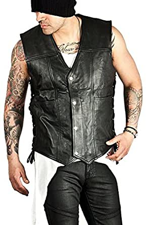 Walking Dead Daryl Dixon Angel Wings Leather Vest Jacket (Small)